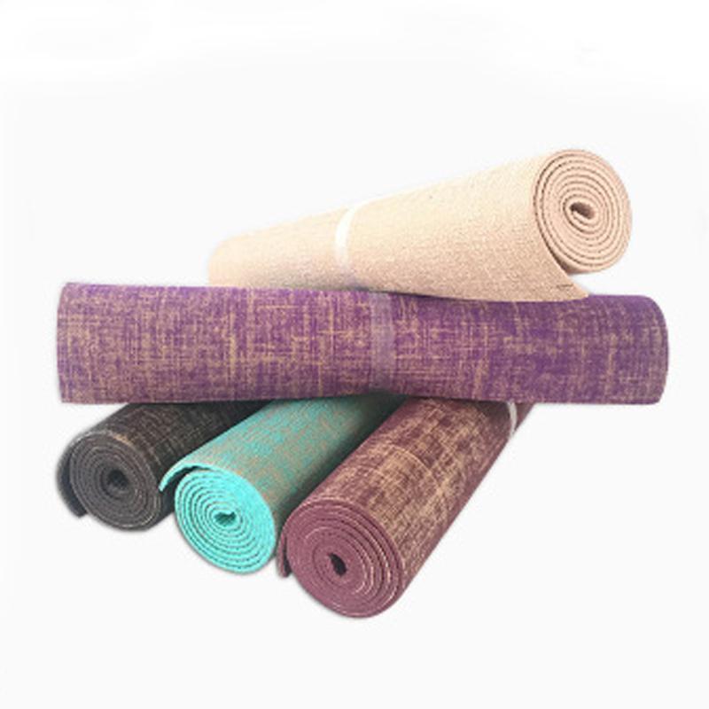 Acheter Hot Linen Yoga Tapis Épaisseur Naturel Jute Pvc Sans Taste Non Slip  Tapis De Yoga Tapis D exercice 173 Cm X 61 Cm X 6 Mm Livraison Gratuite De   68.5 ... 57d47e0619e
