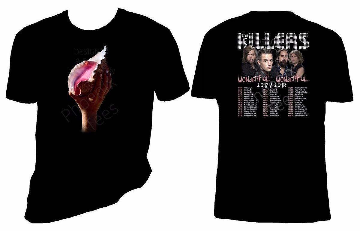 87696701f The Killers Wonderful Wonderful 2017 2018 Concert Tour T Shirt New Arrival  Male Tees Casual Boy T Shirt Tops Discounts T Shirts Shopping Online T  Shirts ...