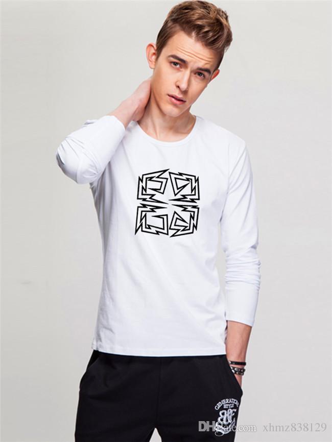 9ff1d1d72f29 New 2018 Men s Long Sleeve T-shirt Men Autumn Winter Round Collar ...