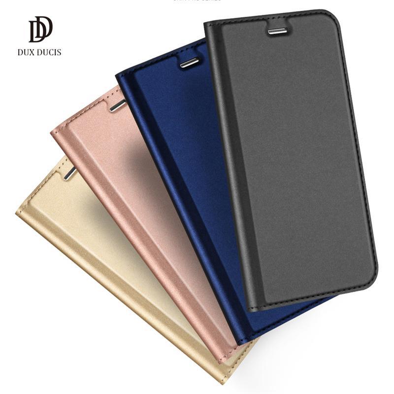 sale retailer 3fb05 799d6 Original DUX Case Cover For Samsung Galaxy S10 S9 Plus S8 S7 Edge Leather  Flip Cover Card Slot Holder Wallet Cases for iPhone XS 8 Plus