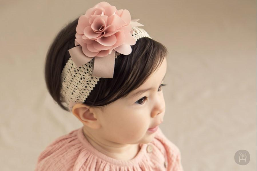 Pink Floral Lace Headband Baby Flower Newborn Baby Hair Bows Flower Crown  Girl Wreath Wedding Hair Accessories UK 2019 From Cukojew 98789eabc86