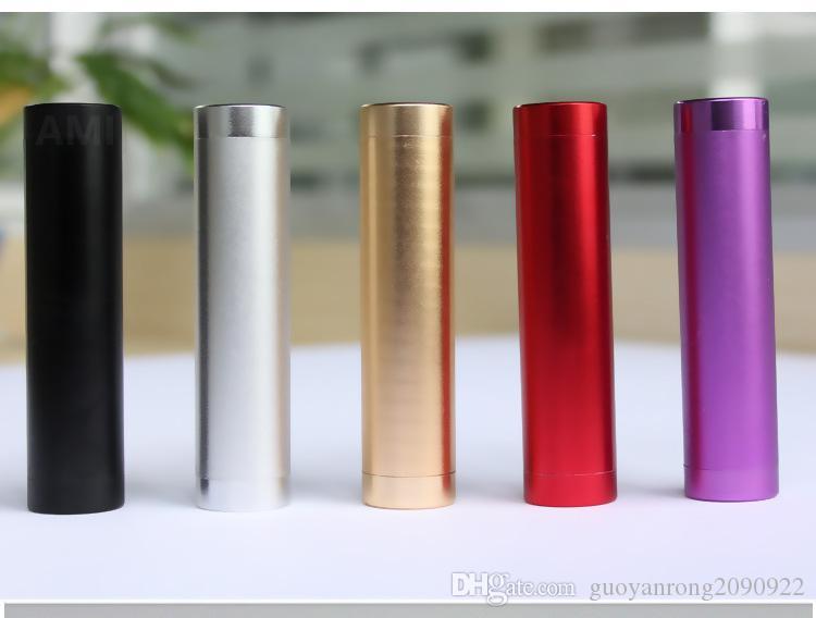 Power Bank Universal 2600mAh Portable Cylindre USB Powerbank Mobile Externe Batterie De Secours Chargeur Alimentation D'urgence pour iPhone Samsung