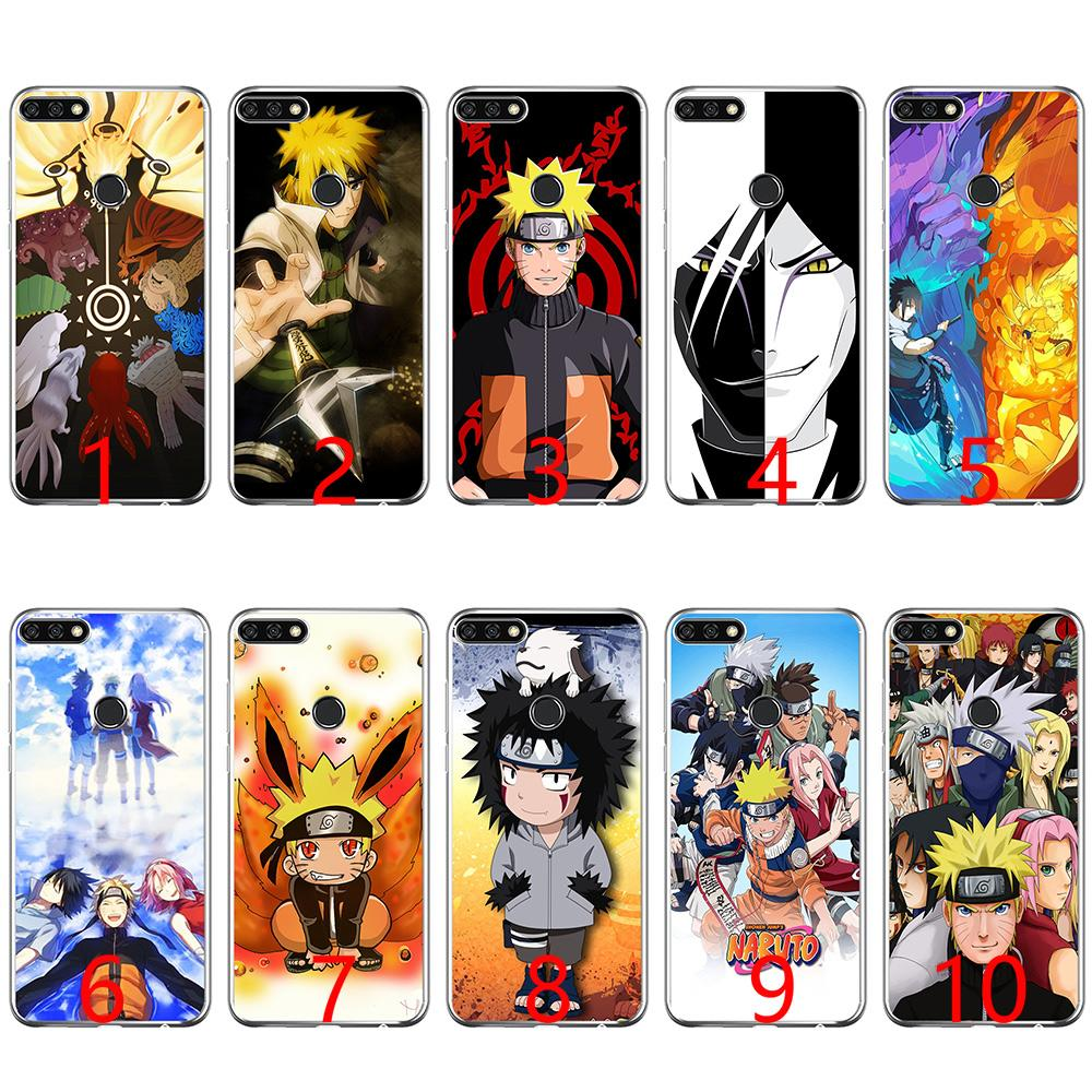 hot sale online 07318 f43ad Anime Naruto Cartoon Soft Silicone Phone Case for Huawei P8 P9 Lite 2015  2016 2017 P10 20 Lite P Smart