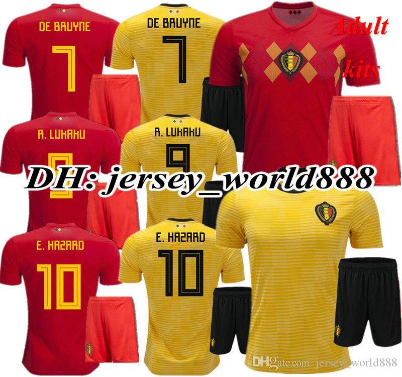 ... Bélgica Longe De Futebol Jersey Kits Nakinggolan Lukaku Perigo Kompany  De Bruyne Mertens 18 19 Camisa De Futebol De Jersey world888 37069e8a06d97