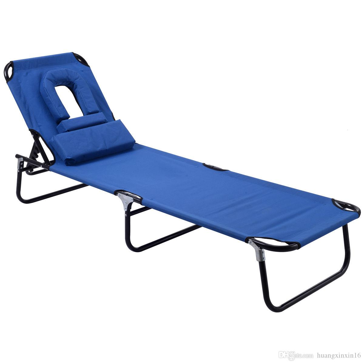 2018 foldable chaise lounge chair bed outdoor beach camping recliner pool yard from huangxinxin16 40 2 dhgate com