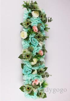 25*100cm flower wedding Road lead flowers long table centerpieces flower Arch door lintel silk rose wedding party backdrops decoration