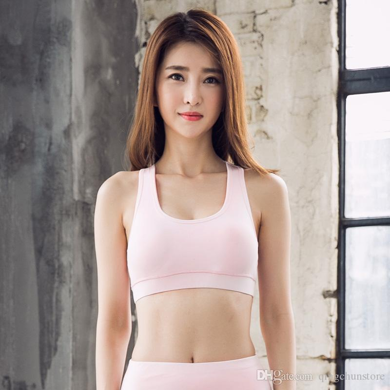 b670807bbbe48 Han Chao New Fashion Sexy Sports Underwear Yoga Wear Running Shock-proof Beauty  Back No Rims Sports Bra Sports Fitness Bra Underwear Vest Yoga Top Online  ...