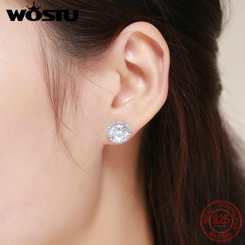 ec6dcb165 2019 Wholesale 925 Sterling Silver 4 Carat Round Cut CZ Stud Earrings For  Women Halo Bridal Bridesmaid Wedding Jewelry Gift FIE358 From Dagu003, ...
