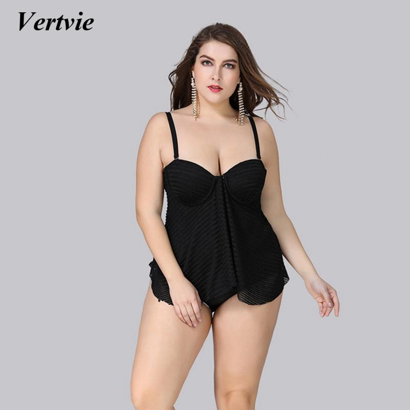 8eedbaa52b 2019 Wholesale Black Plus Size Swimwear Women Sexy One Piece Swimsuit 2018  Strappy Mesh Beach Wear Push Up Bathing Suit Slim Monokini From  Clothesg090