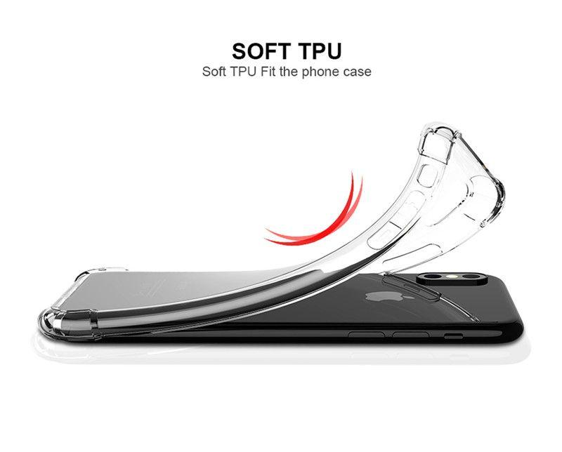 Супер антидетонационные мягкие TPU прозрачные прозрачные чехлы для телефонов защищают крышку противоударные мягкие чехлы для iPhone 6 7 8 plus X samsung s8 s9 plus note8