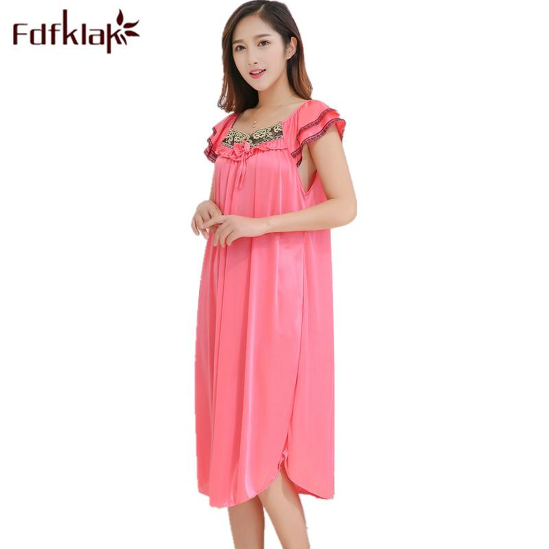 2018 Fdfklak L Xl Xxl Plus Size Pregnancy Clothes Nightgown Pregnant ...