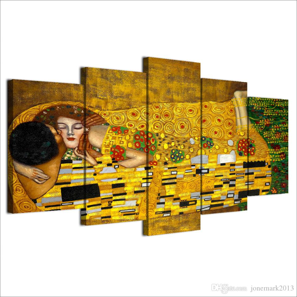 canvas art HD print Gustav Klimt artistic picture wall pictures for living room home decor UP-2005C