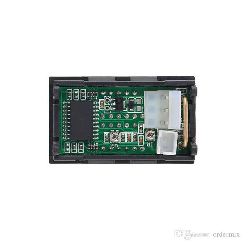 DC 100V 10A Voltímetro Amperímetro LED rojo Amp Dual Digital Volt Meter Calibrador analógico Volt Ammeter 0.28