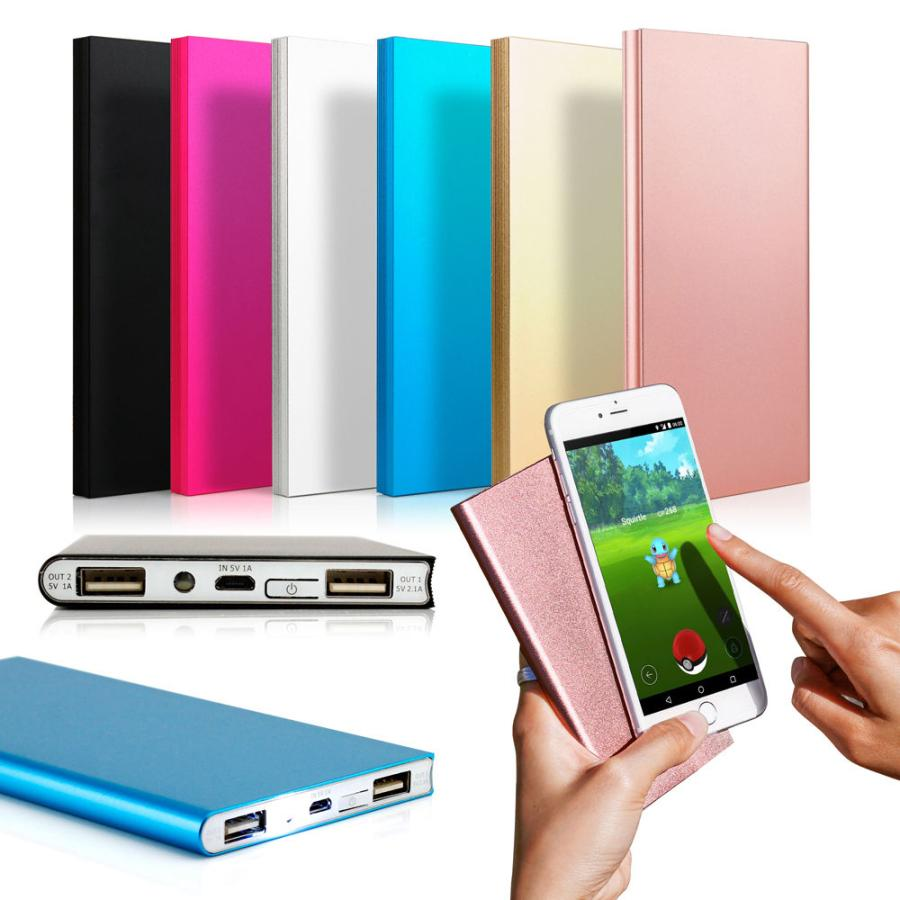 NEW Ultra Thin 20000mAh Portable External Battery Charger Power Bank for iPhone Cell Phone High Quality