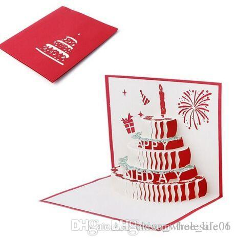 3D Pop Up Greeting Card Handmade Happy Birthday Merry Christmas Gifts New Creative Cards Online Free From