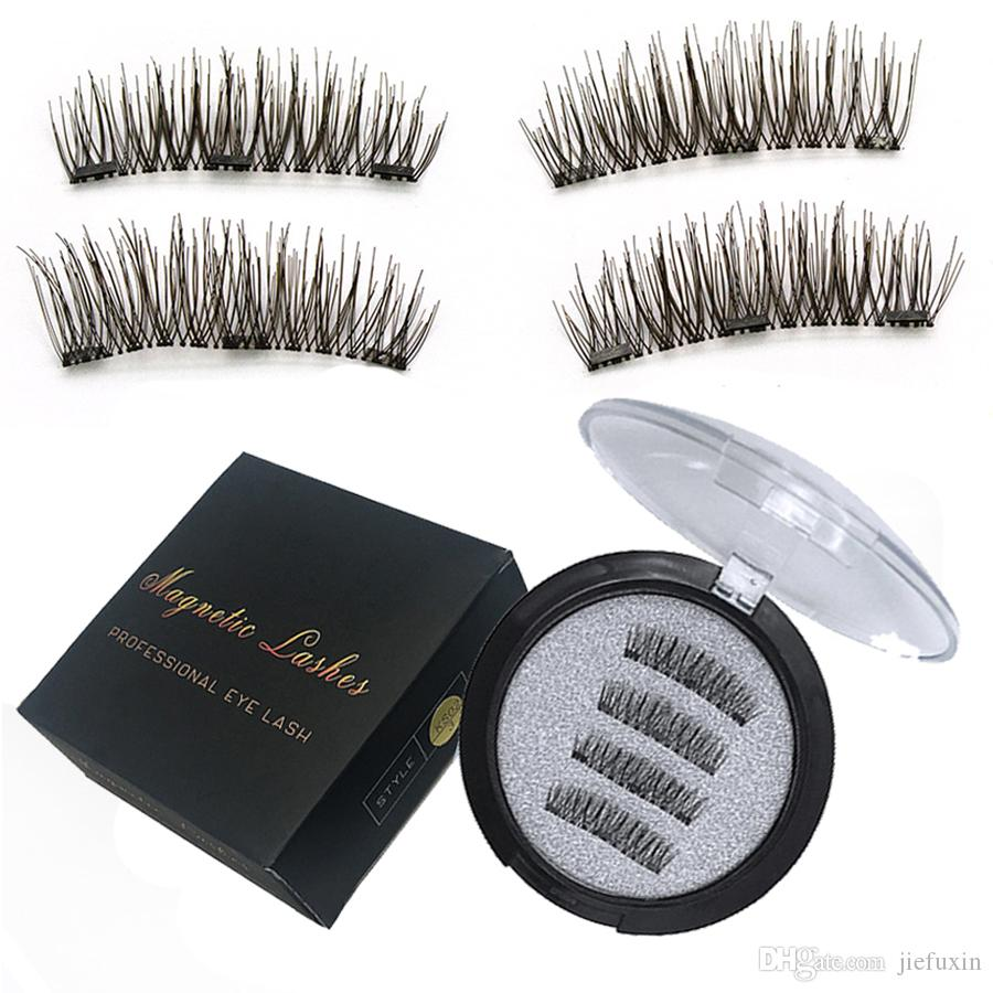 Jiefuxin 3 Magnetic Eyelashes Extension 3d Eyelashes On The Magnet
