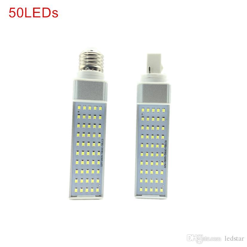7W 9W 11W 13W 15W LED-lampor Lyser E27 G24 LED Horisontell Plug Corn Light AC 85-265V