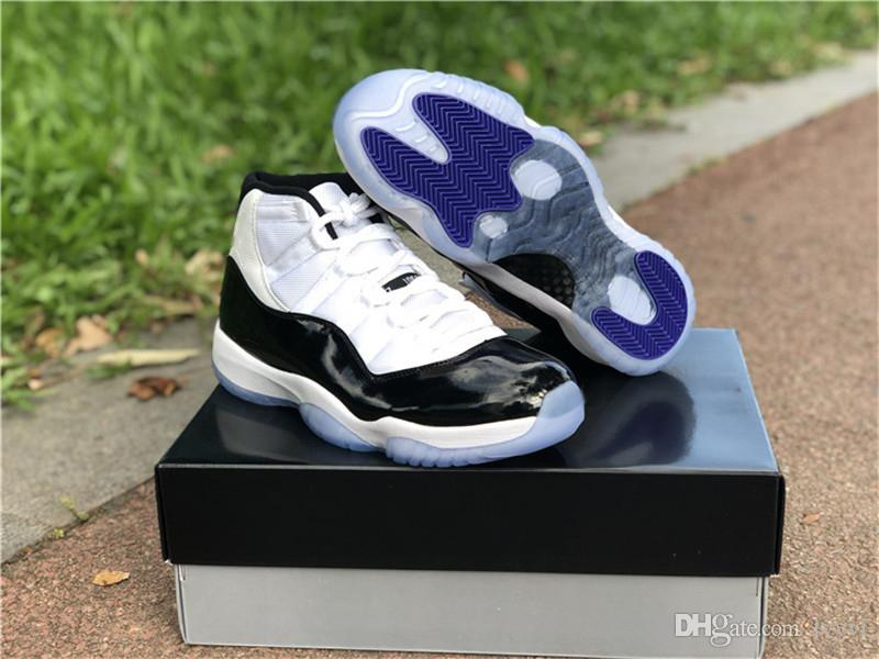 promo code 2ffbb 8c3e0 2018 Release 11 Concord Back Number 45 Man 11S Black White Basketball Shoes  Real Carbon Fiber Sneakers OG Quality Come Box 378037 100 Carmelo Anthony  Shoes ...