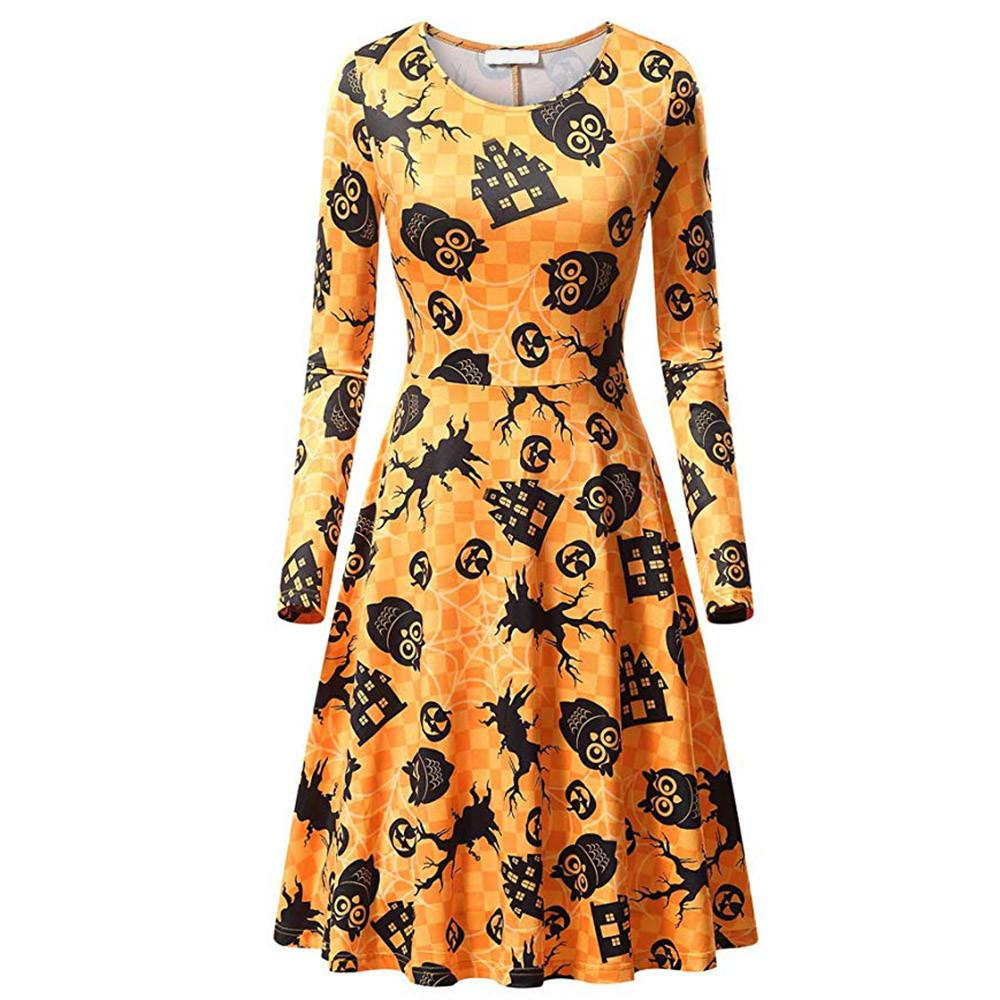 9db168d7a2 2018 Women S Floral Print Vintage Dress Plus Size Sweet Lady Long Sleeve O  Neck Casual Summer Chiffon Chinese Style Dress Dresses Sale Satin Dresses  From ...