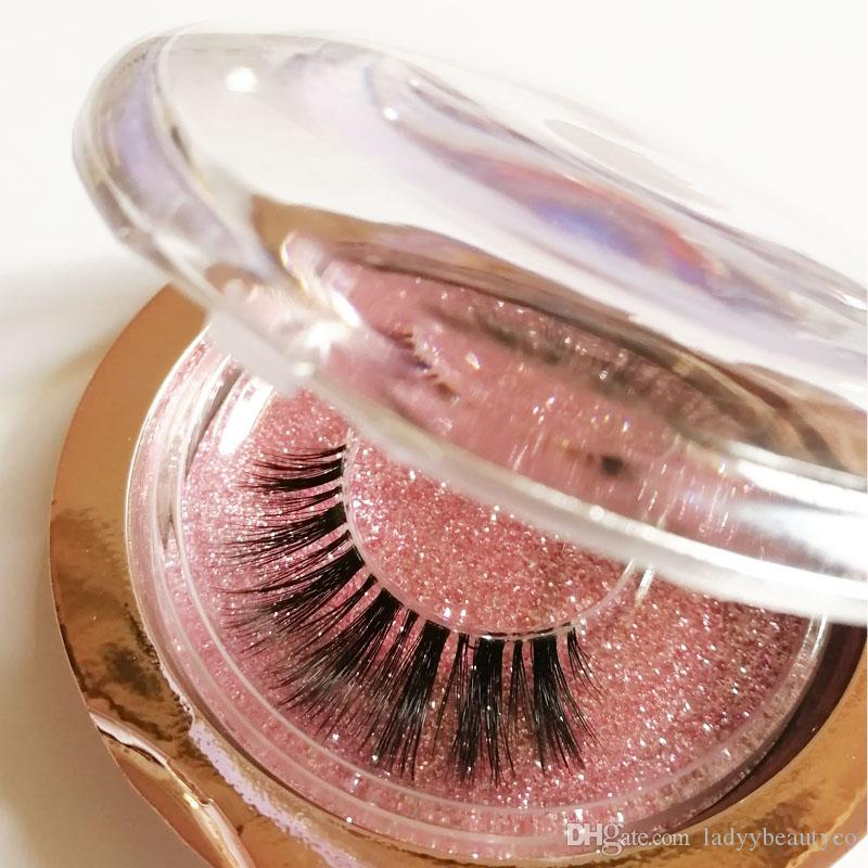 y03-3D Lashes clear band 3D Silk Lashes Eyelashes Natural nude look Lash False eyeLashes Handmade Eyelash Extension Makeup