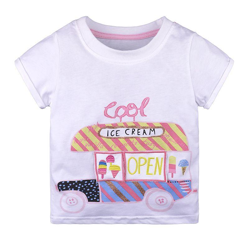 aaa75df78 2019 Summer Baby Clothes Cartoon Ice Cream Design Boys Girls T Shirt ...