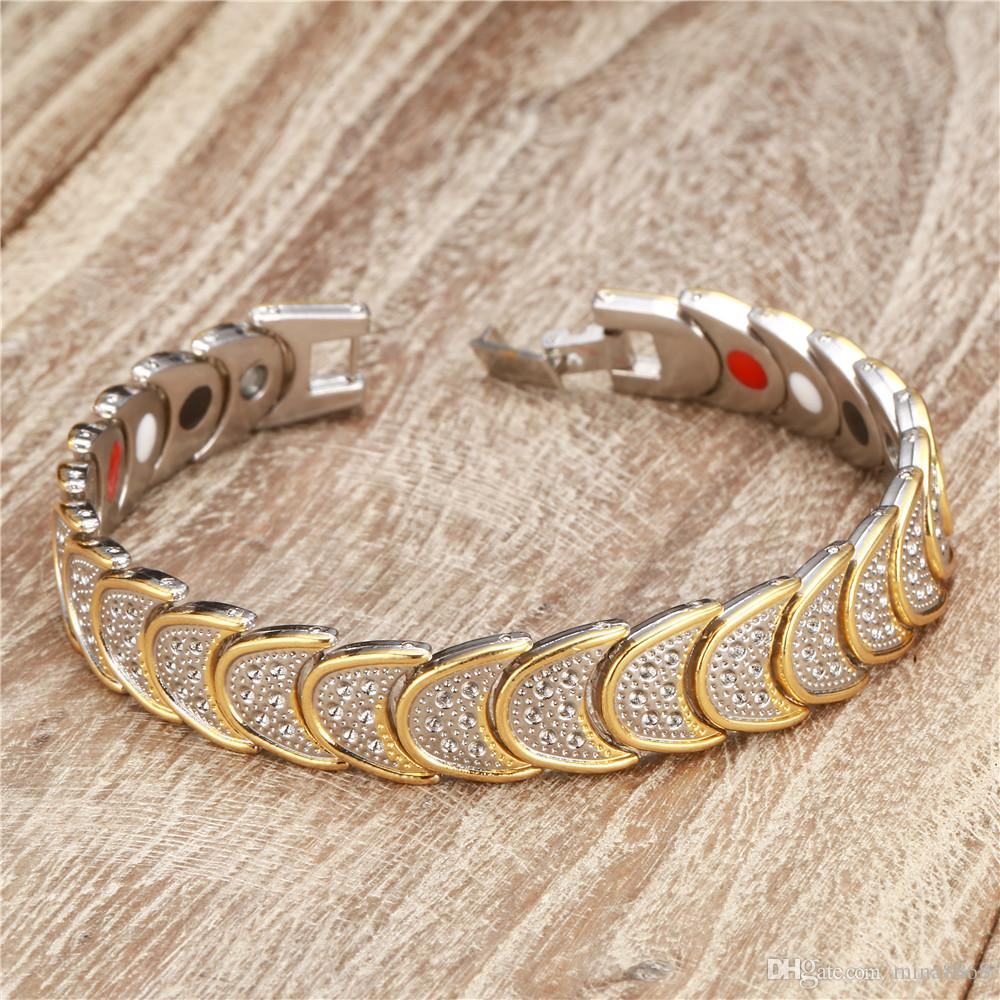 Neues Entwurfs-Mond-Ketten-magnetisches Armband-Strahlungsschutz Kupfer-Verbindungsketten-Energie-Magneten Charme-Armbandarmband Wristband Wholesale