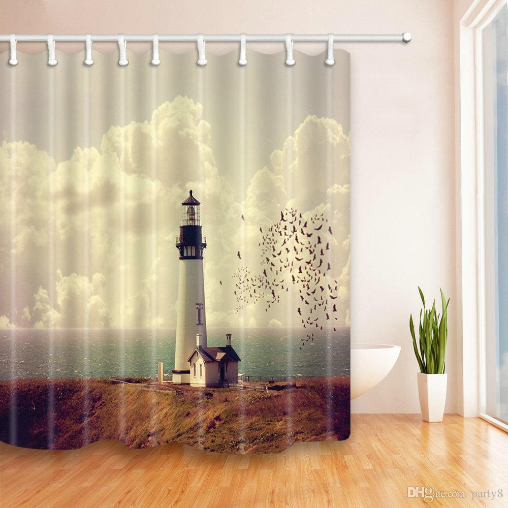 2018 Lighthouse Landscape Seaside Shower Curtains 69 X 70 Inch