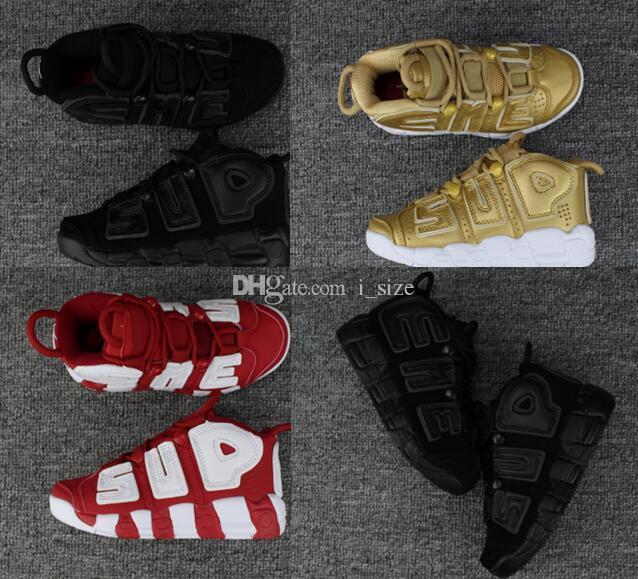 finest selection abbe8 7b3f2 Acquista 2018 Nuovo Più Uptempo Triple Nero Varsity Red Bambini Scarpe Da  Basket Scottie Pippen Uptempo Ragazzi Ragazze Scarpe Sportive Sneakers  Size28 35 A ...