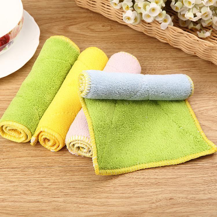 Fine fiber double suction dropping cloth bibulous the kitchen more clean  dish towel microfiber cloth