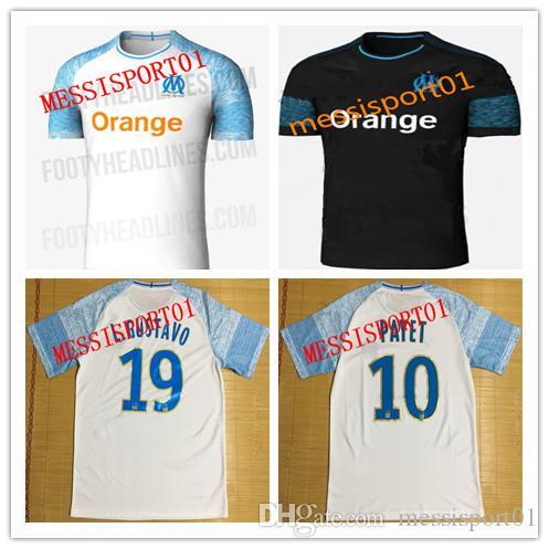 Olympique De Marseille Soccer Jersey 2018 2019 OM Marseille Maillot De Foot  PAYET L.GUSTAVO THAUVIN Jerseys 18/19 Marseille Shirts Soccer Jersey Soccer  ...