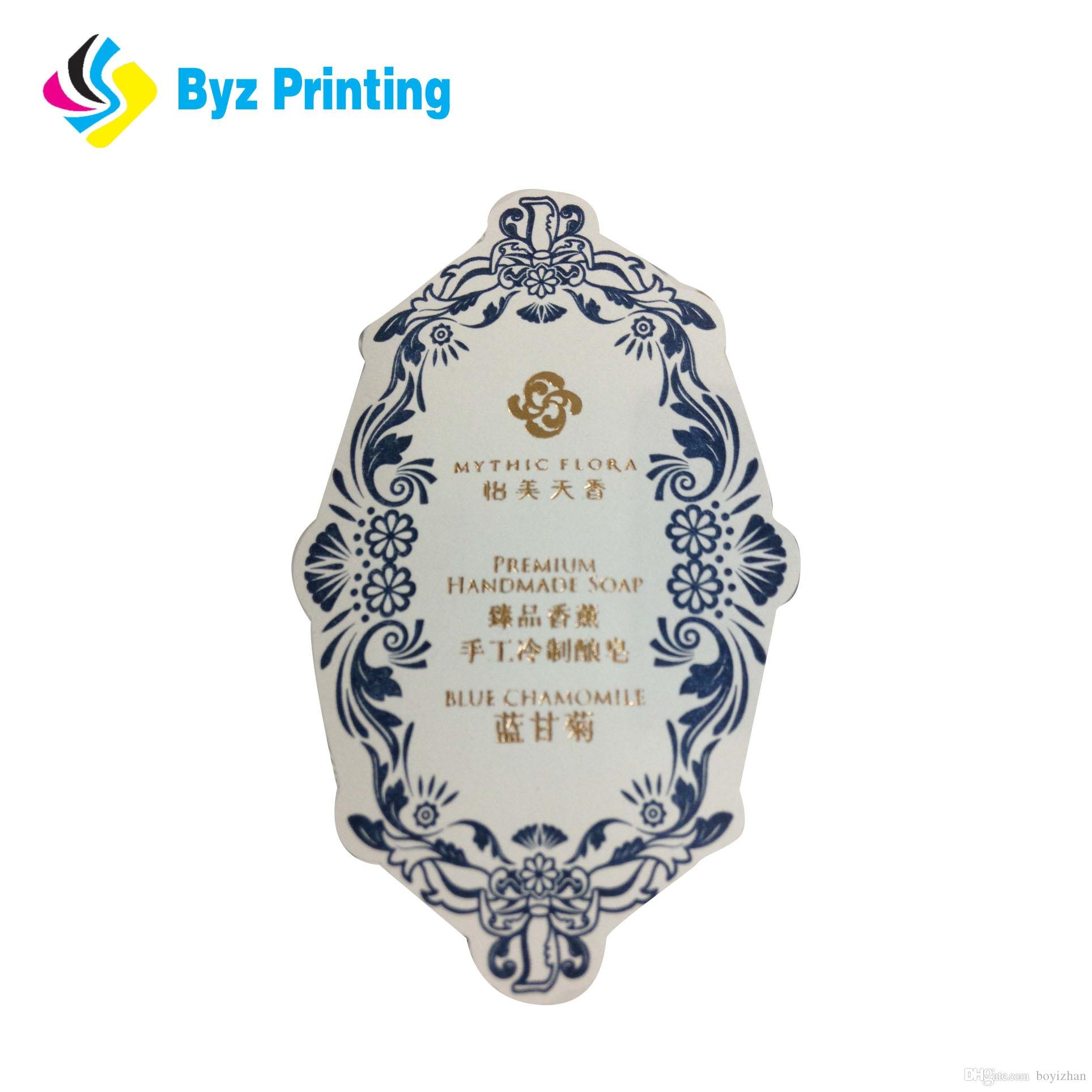 2019 Best quality for Custom waterproof paper material sticker printing  with hot stamping words