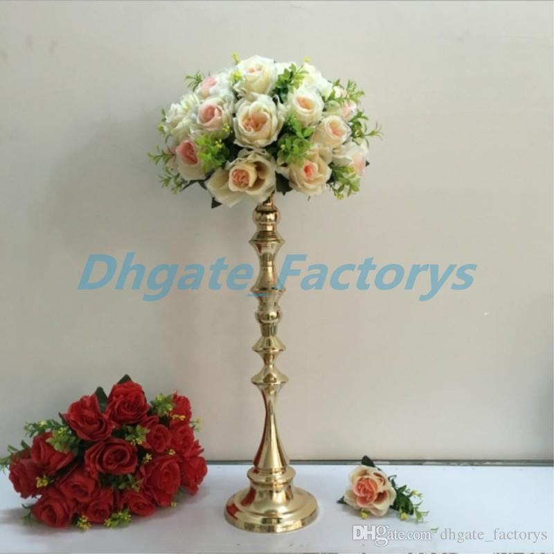 Großhandel 53 Cm Tall Gold Kerzenhalter Kerzenständer Hochzeit Tisch  Herzstück Event Road Lead Flower Rack Von Dhgate_factorys, $21.11 Auf  De.Dhgate.