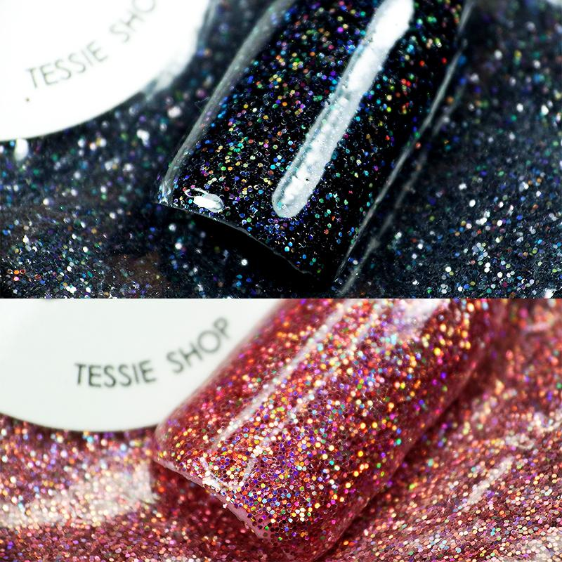 Tessie Shop Beautiful Glitter Nail Designs 0 2mm Gold Holographic