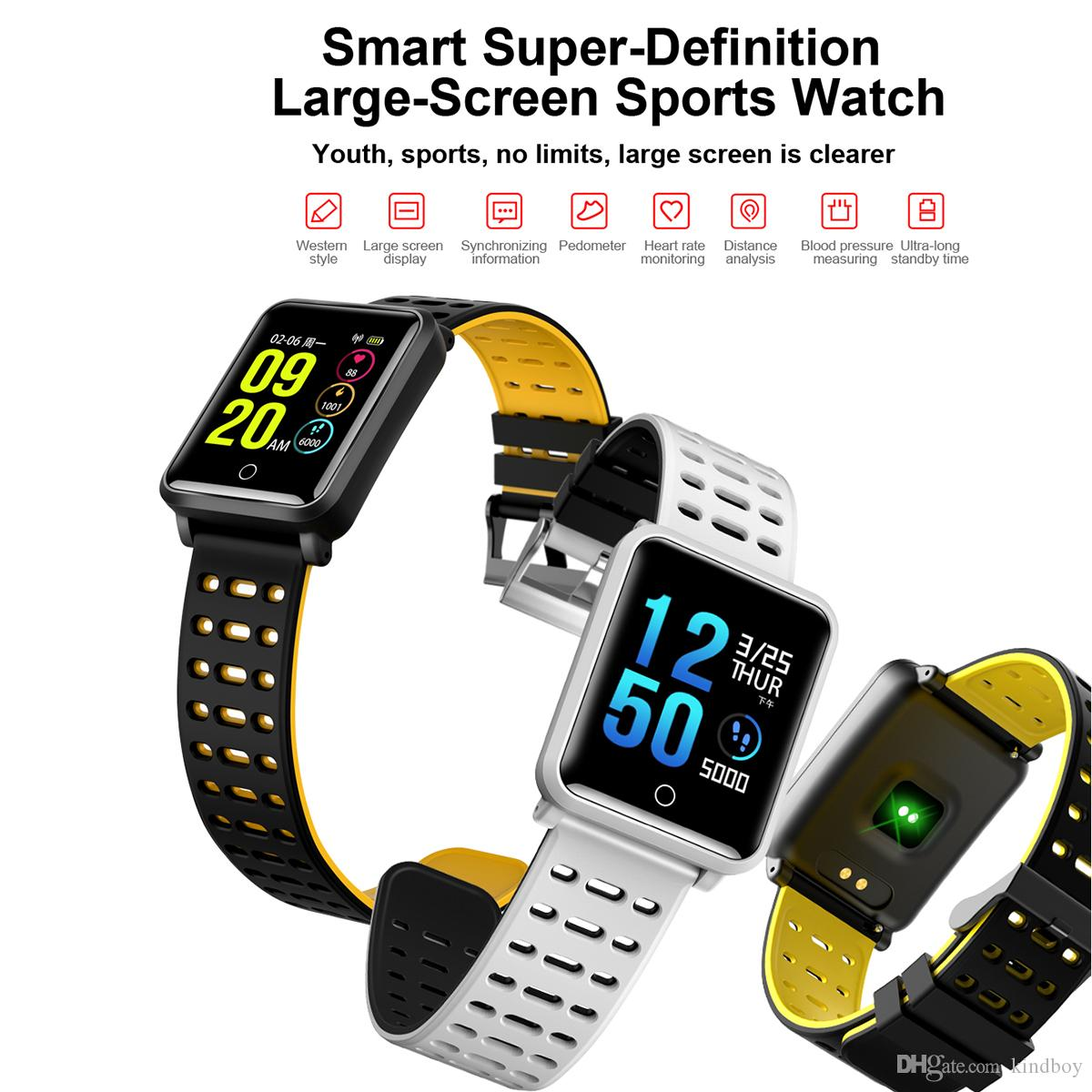 N88 Smart Watch Men Smartwatch Women Waterproof Heart Rate Blood Pressure Monitor Sport Bracelet Fitness Track Band Alarm Clock PK DHL ship