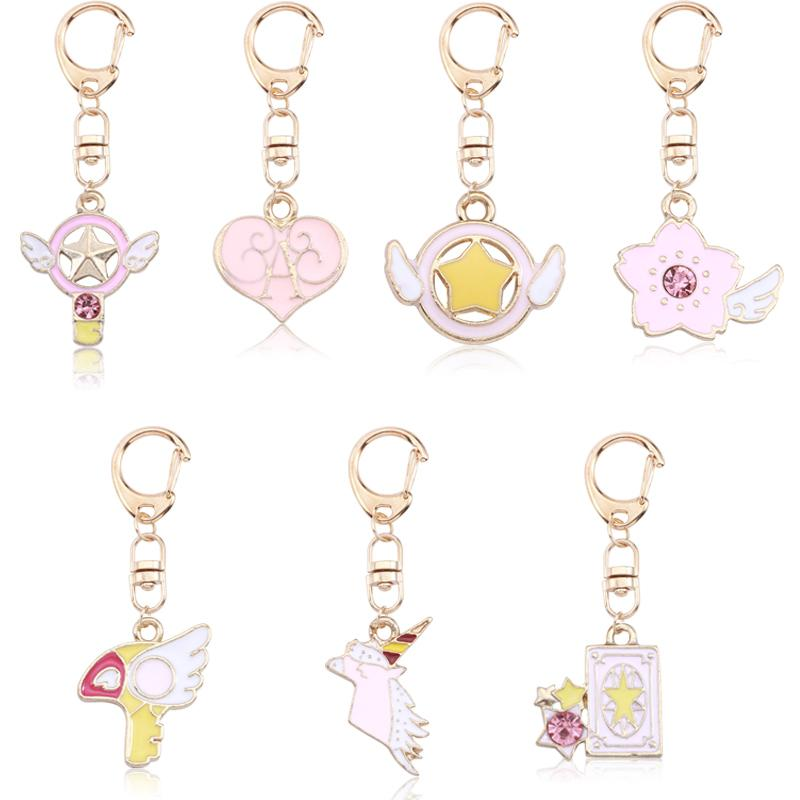 Cute DIY Anime Key Chains Pink Heart Variety Sakura Magic Card Keychain For  Women Kawaii Gold Keyring Childhood Drop Shipping Keychains For Men  Designer ... 508f3fe42