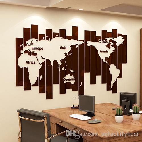 creative diy 3d stereo acrylic wall stickers modern living room