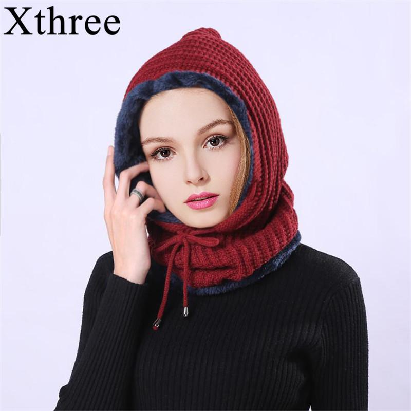 Compre Xthree Tejido De Punto Beanie Hat Bufanda Conjunto Skullies Gorros  Sombreros De Invierno Para Hombres Mujeres Cap Solid Bonnet Máscara Marca  Sombrero ... ba4f9093fec