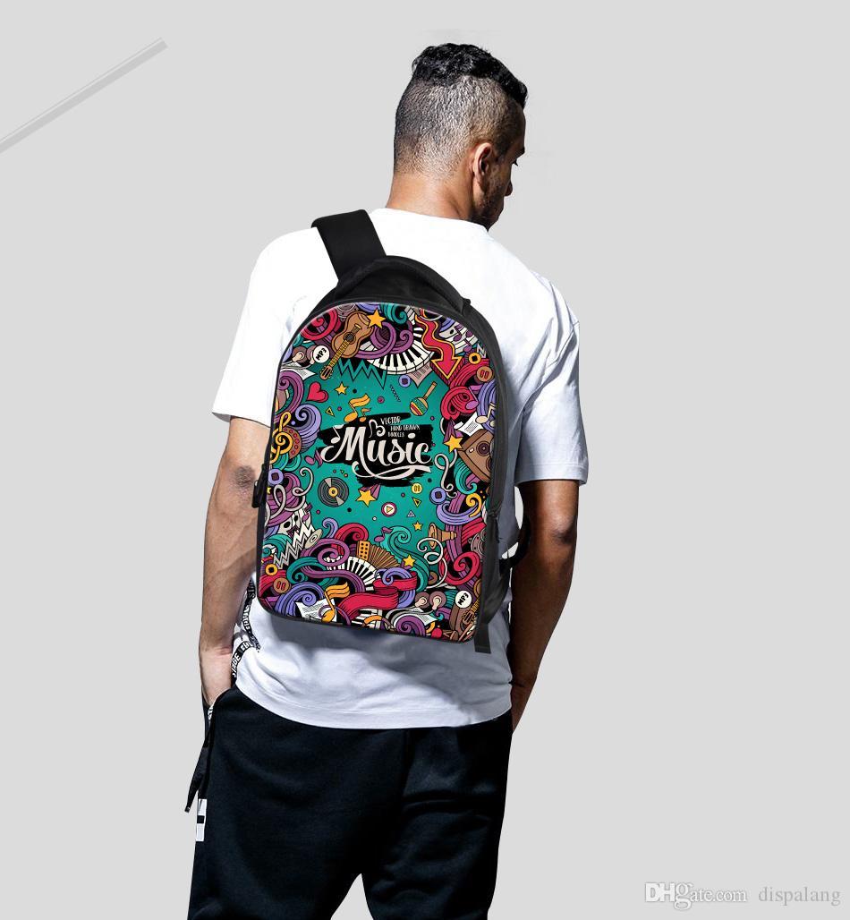 Mochila portátil realista del diseñador del unicornio para el muchacho adolescente Mochila escolar grande de la capacidad Bookbags para los estudiantes de clase superior Mochila diaria del bolso