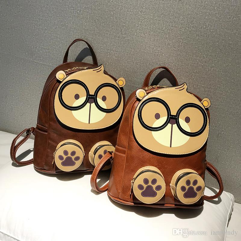 Cream Bear Backpack Kids Cartoon Backpacks Cute Teddy Bear School Bags For Teens  Girls PU Backpack Red Cool Bags Backpacks For Kids From Iamcindy 63f9bb10f5181
