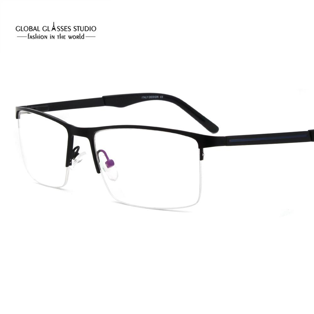 4cf81ff58d2c 2019 Fashion Over Sized Half Frame Classic Design Men Metal Optical  Eyeglass Frames With Acetate Tip 5067 From Shuidianba