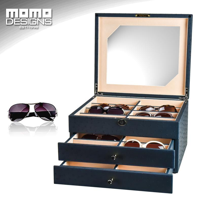 60c71370fe0 24 Sunglasses Storage Box Leather Packaging For Glasses Organizer Display  Jewelry Showcase High End Carbon PU Wrapped Travel Watch Box Watch Travel  Cases ...