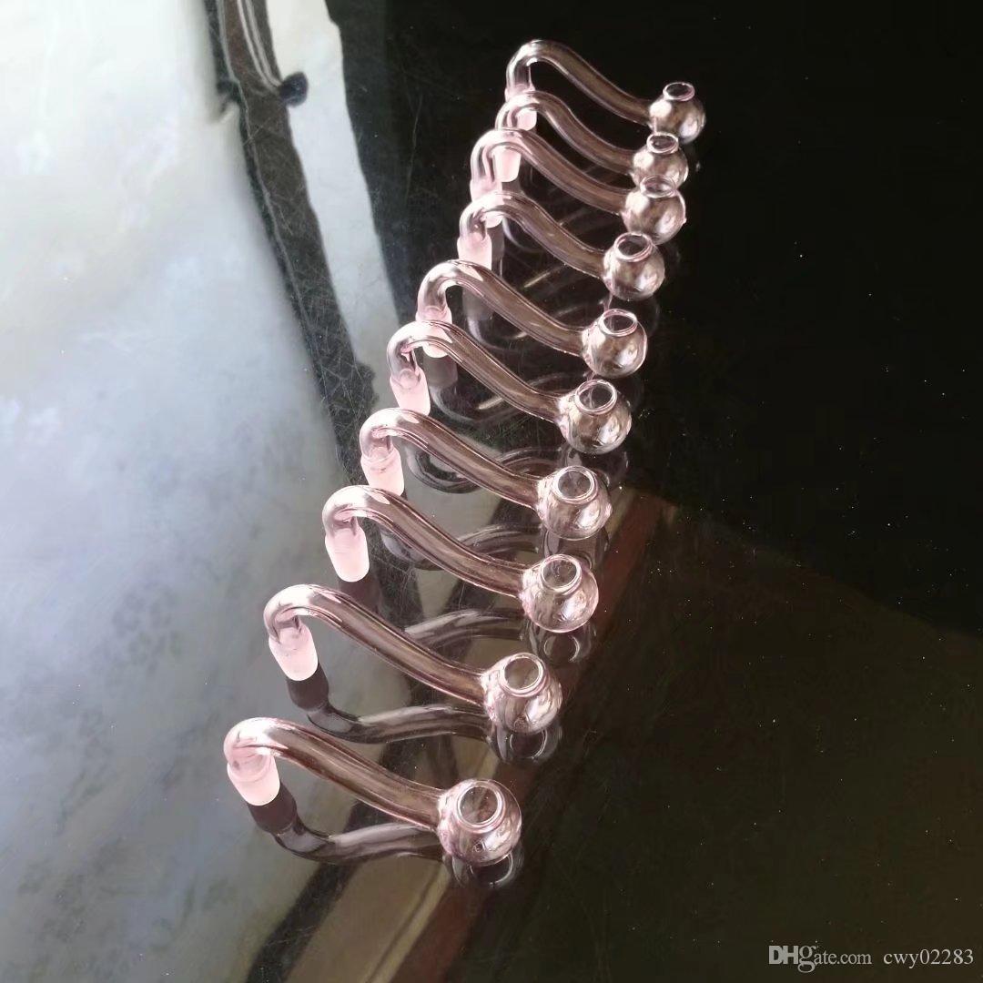 핑크 s 냄비, 도매 유리 봉 액세서리, 유리 물 파이프 흡연, 무료 배송
