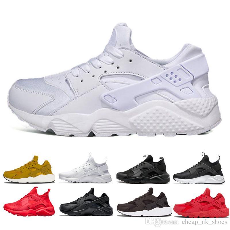 6b022c9c9250 Classic Huarache Ultra Run Men Women Sneaker Tripel Black White Red Running  Shoes Mens Sports Shoes Huaraches Athletic Jogging Shoes 36 45 Running Shoes  For ...