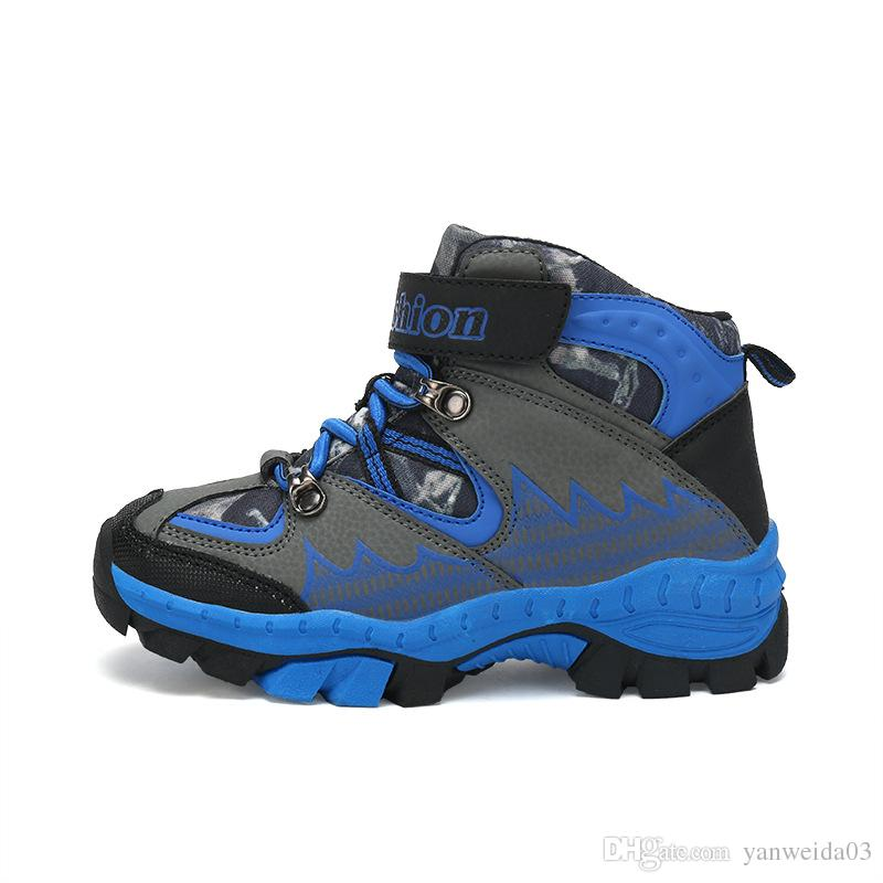 official photos 2da9e 45c0b Kinder Outdoor Schuhe Winter Kletterschuhe Kinder Sportschuhe Schnee  Stiefel Rutschfestigkeit warm halten Baumwolle gepolsterte Schuhe