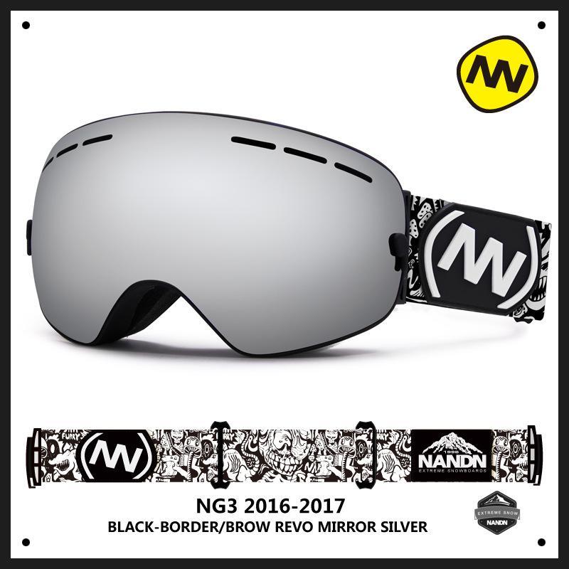 3d9dad0cb5c 2019 NANDN Brand Ski Goggles Double Lens UV400 Anti Fog Big Ski Mask  Glasses Skiing Men Women Snow Snowboard Snowboarding Goggles From Enhengha