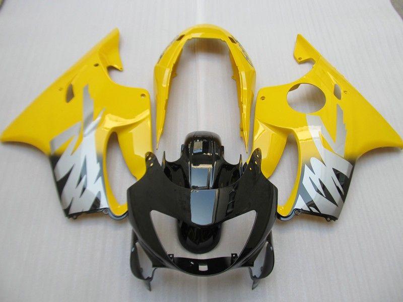 Injection mold Fairing kit for HONDA CBR600F4 99 00 CBR600 F4 1999 2000 CBR 600 ABS Yellow black Fairings set+7gifts HC06