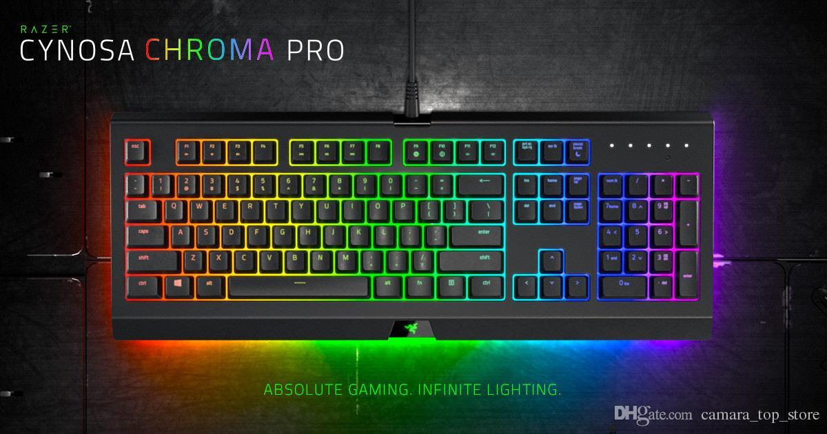0f6ac68fc5f Razer Cynosa Chroma Pro Gaming Keyboard 104 Keys Multi Color RGB Individual  Backlit Keys Spill Resistant Durable Design Keyboard Mechanical Keyboard  Media ...
