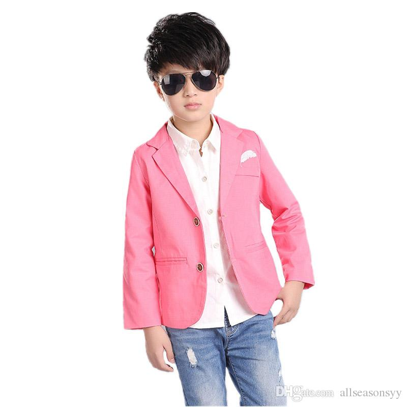 8bee6252b 2018 New Kids Boys Blazer Cotton Wedding Formal Blazer Casual ...