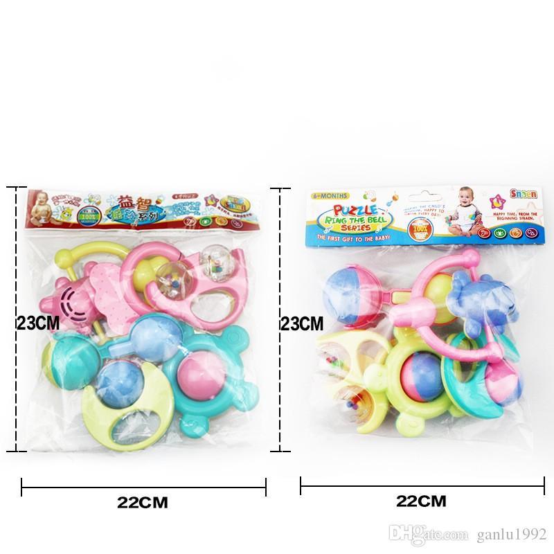 Cartoon Baby Handbell Set Many Styles Musical Jingle Ball Infant Puzzle Toys Gift 4 31yj C R