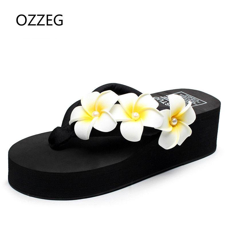 15841bbc7fb Woman Slippers Beach Flip Flops Summer Sandals Wedges Bohemia Slippers  Ladies Platform Sandals High Heels Shoes Female Women Shoes Slipper Online  with ...